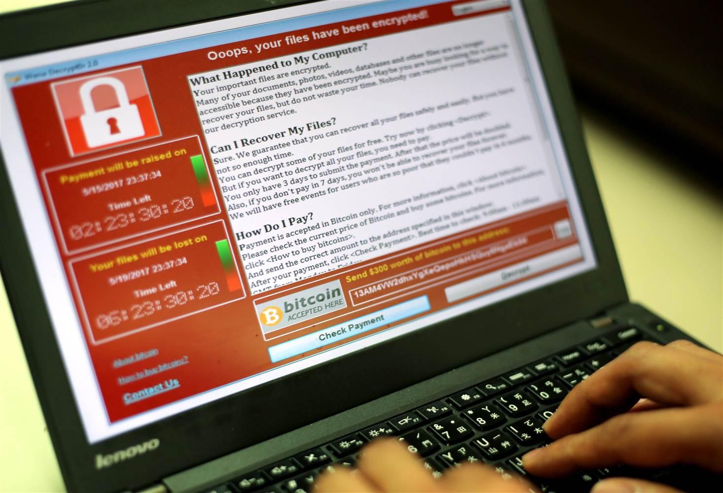 Ataque con virus Ramsomware